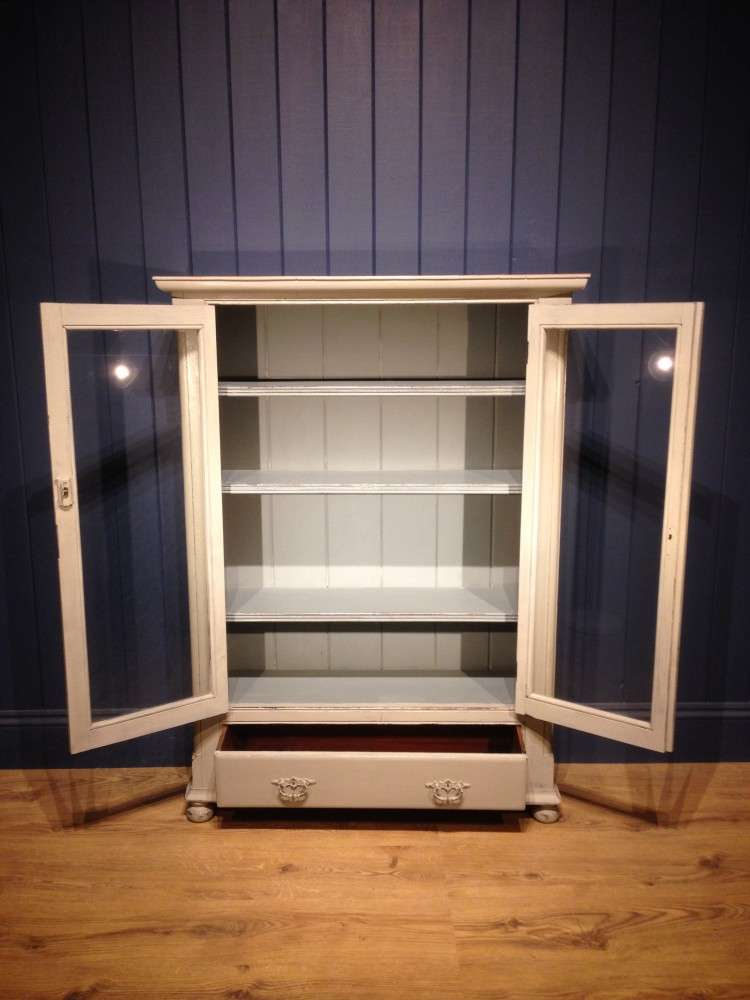 Mid Victorian Painted Pine Bookcase3