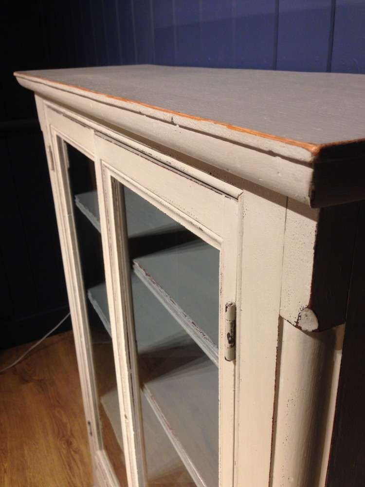 Mid Victorian Painted Pine Bookcase4