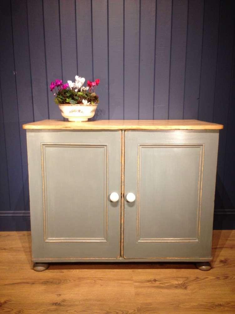 Victorian Painted Pine Kitchen Cupboard SOLD- Ref:1076