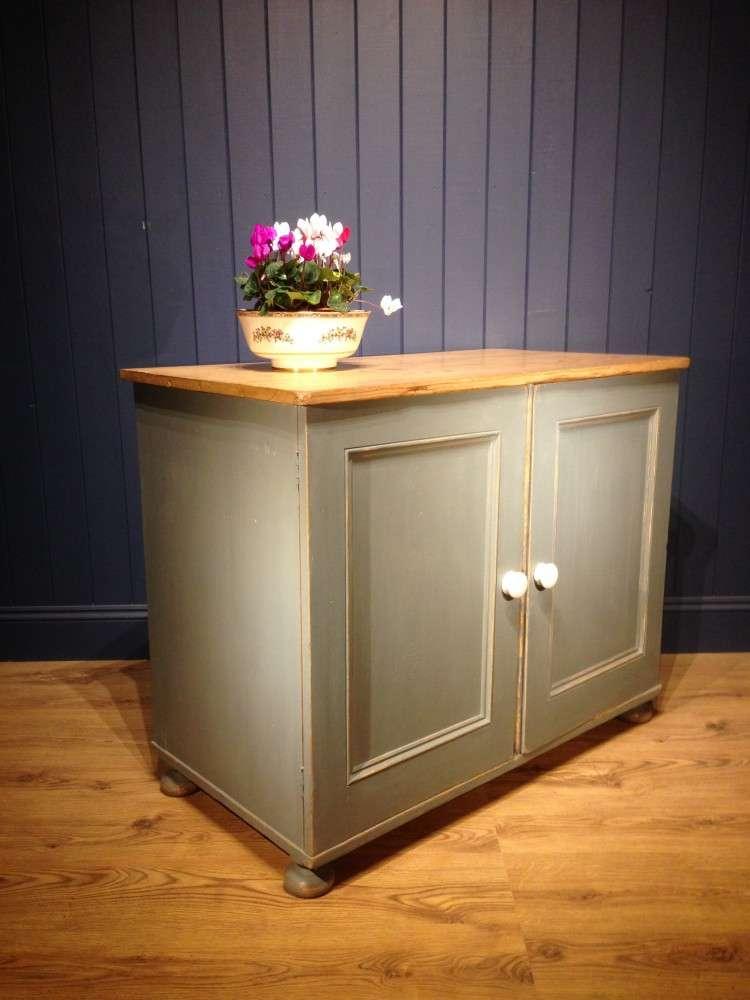 Victorian Painted Pine Kitchen Cupboard1