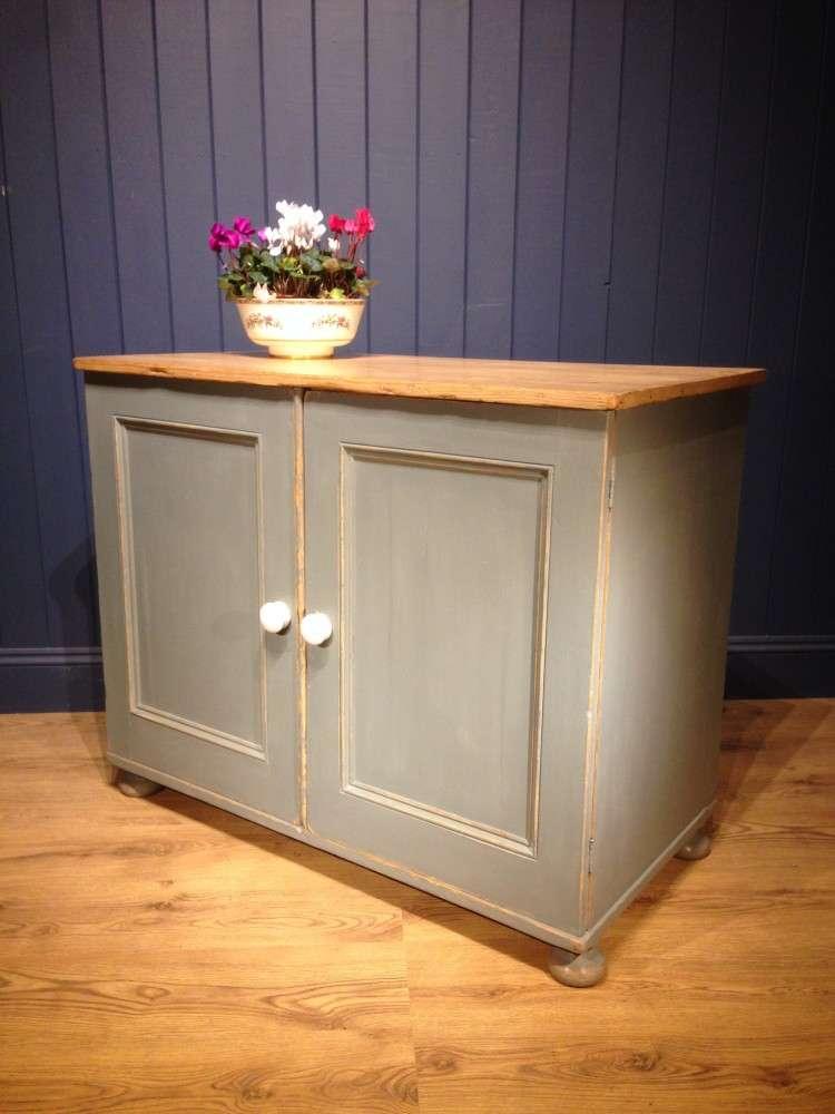 Victorian Painted Pine Kitchen Cupboard2
