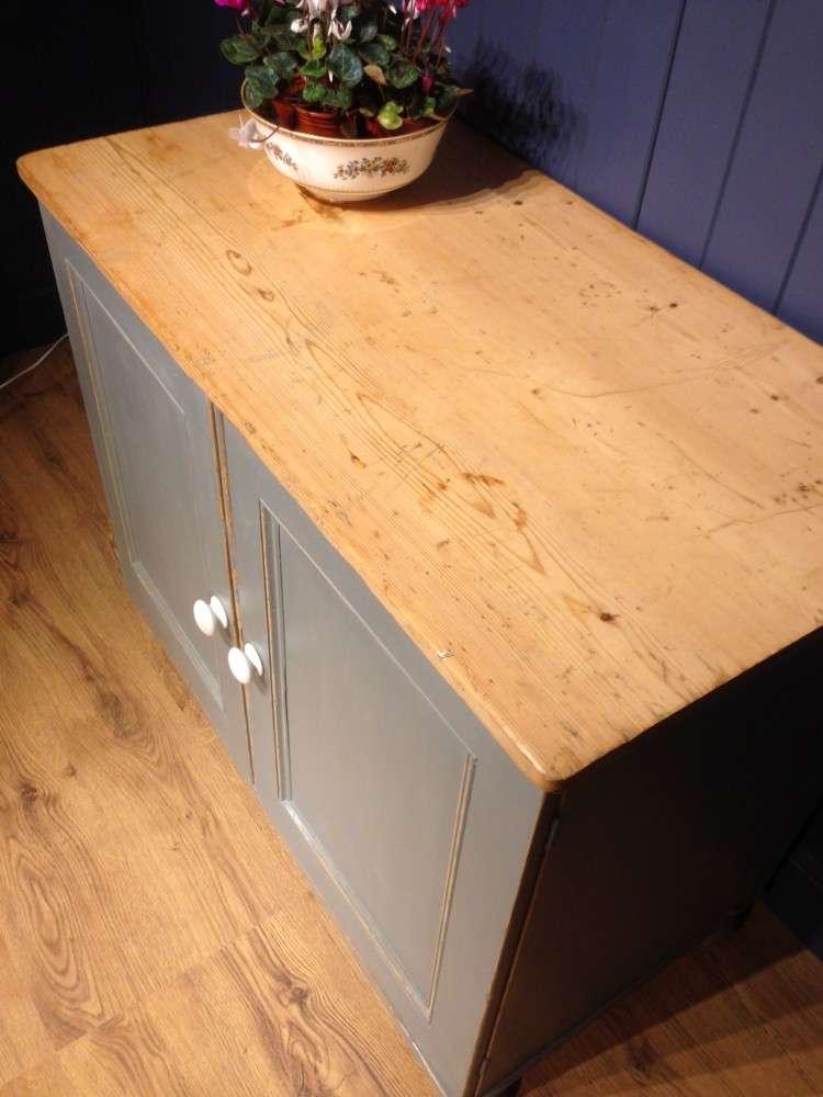 Victorian Painted Pine Kitchen Cupboard4