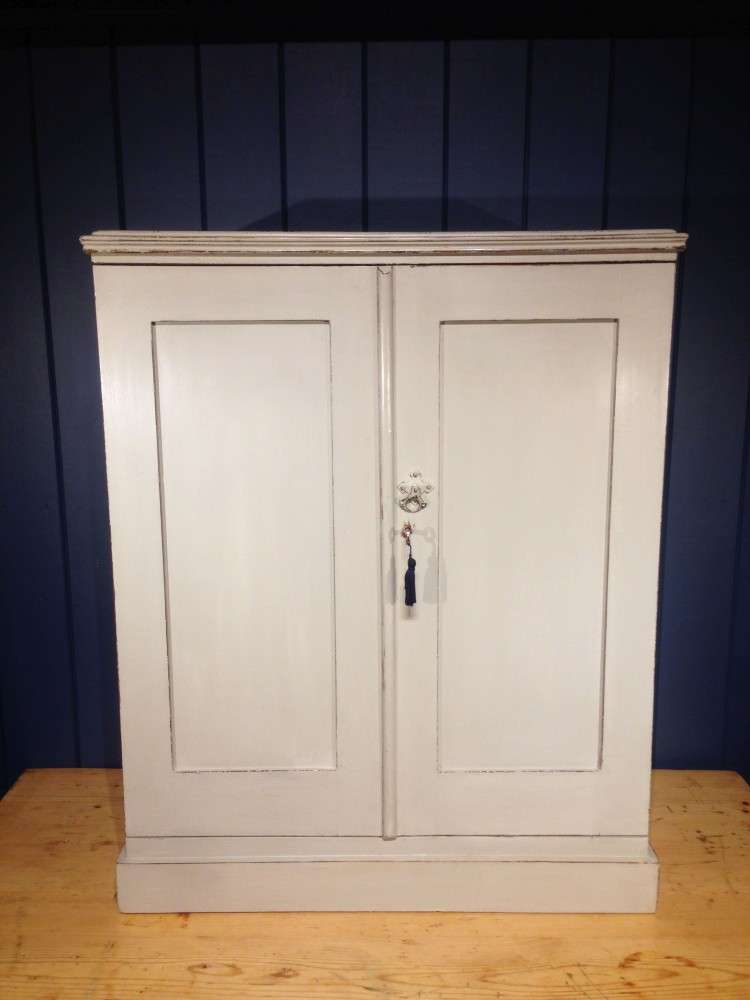 Edwardian Painted Mahogany Small Cupboard