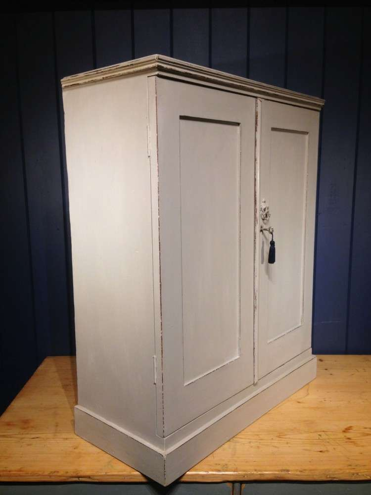 Edwardian Painted Mahogany Small Cupboard1