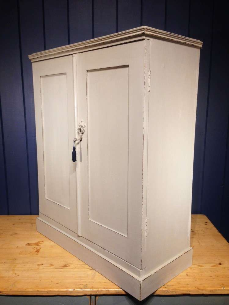 Edwardian Painted Mahogany Small Cupboard2