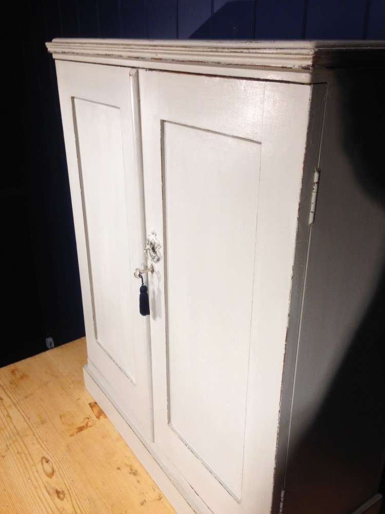 Edwardian Painted Mahogany Small Cupboard4