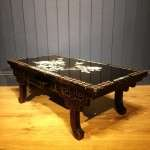 1930's Chinese Black Lacquered Mother Of Pearl Table SOLD- Ref:1078