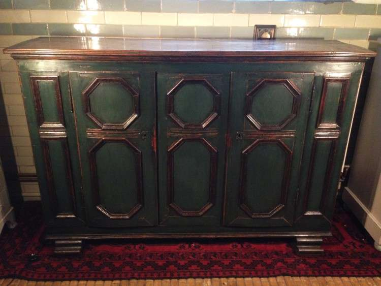 19th Century French Painted Oak Cupboard