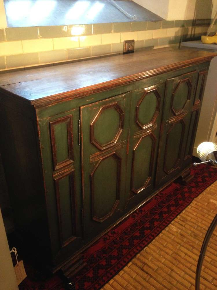 19th Century French Painted Oak Cupboard2