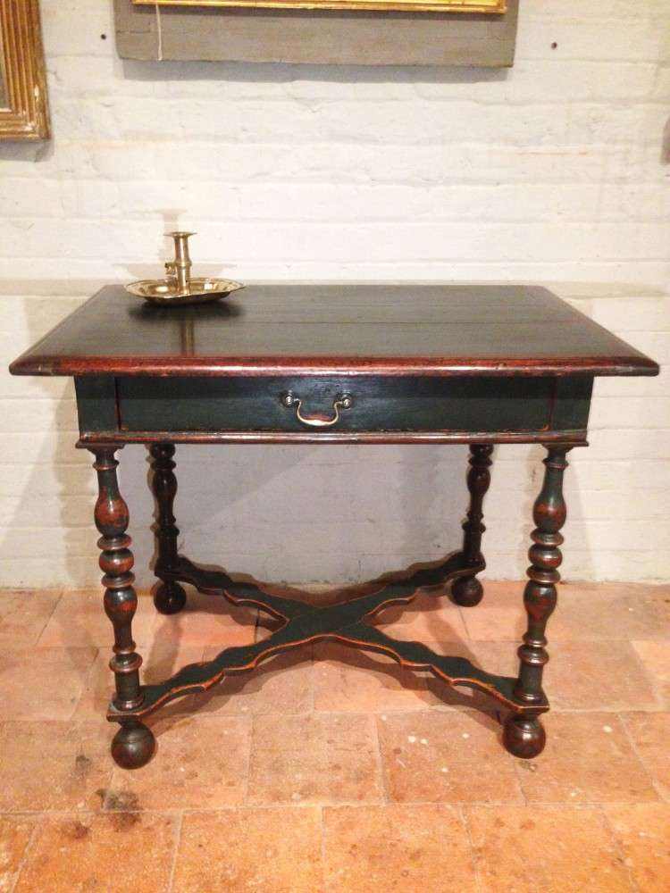 19th Century Painted Oak Side Table SOLD- Ref:1080