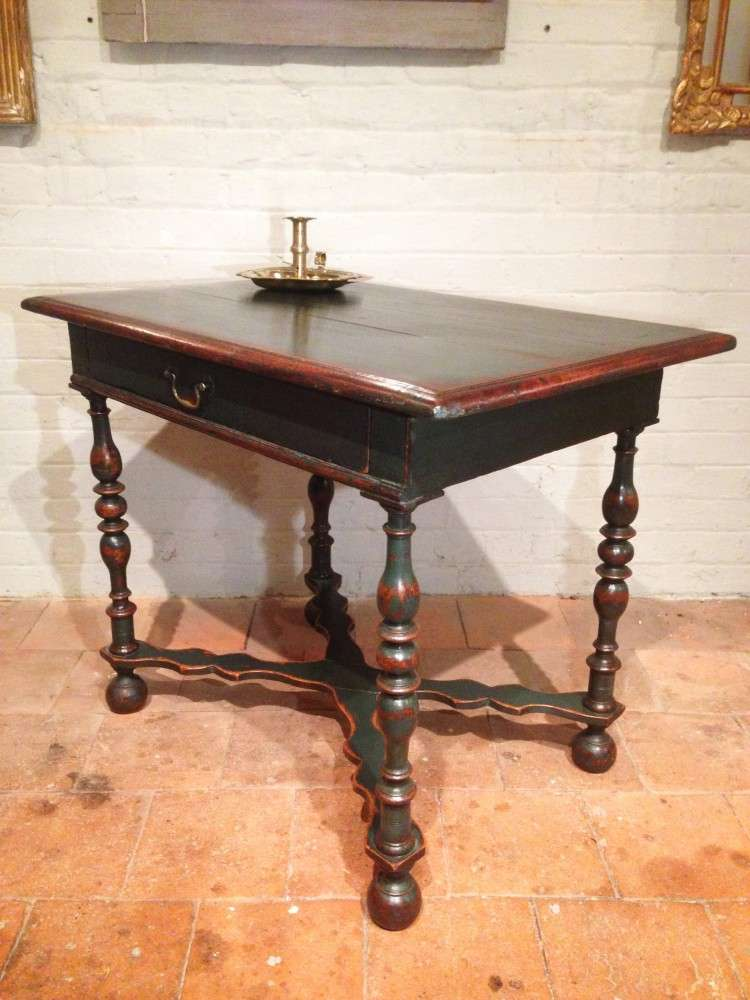 19th Century Painted Oak Side Table1