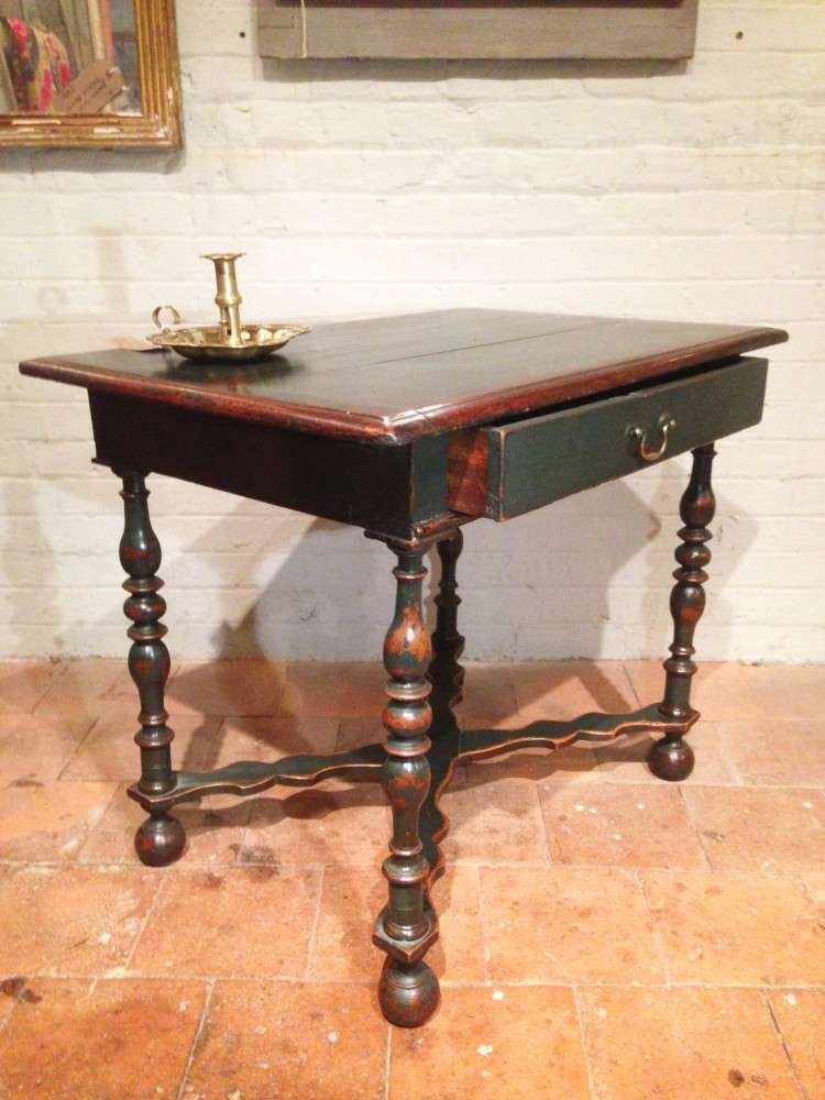 19th Century Painted Oak Side Table2