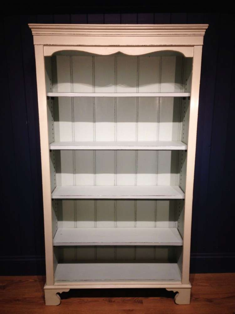 Late Victorian Painted Pine Open Bookcase