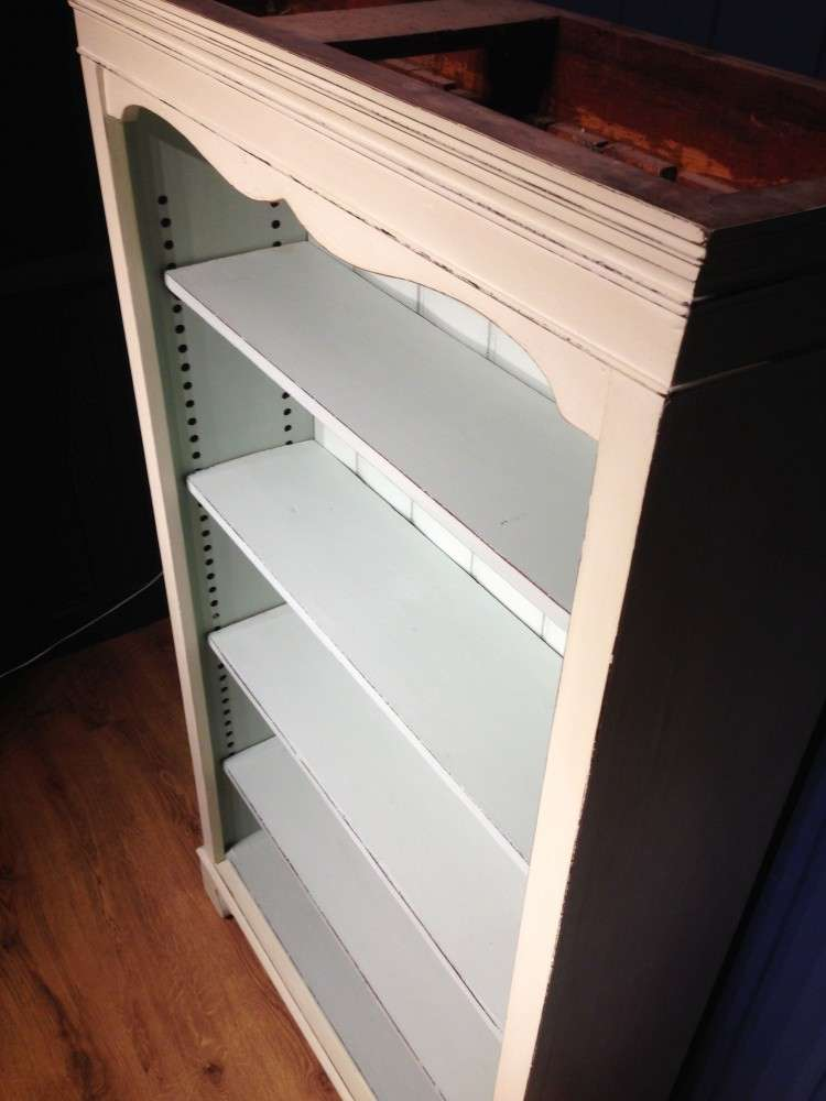 Late Victorian Painted Pine Open Bookcase2
