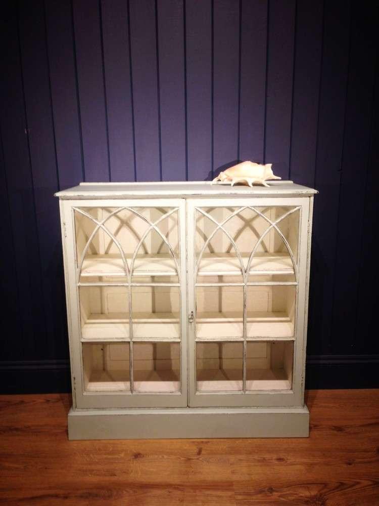 Victorian Painted Mahogany Glazed Bookcase