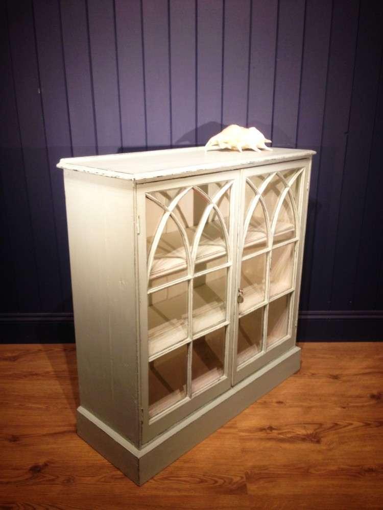 Victorian Painted Mahogany Glazed Bookcase1