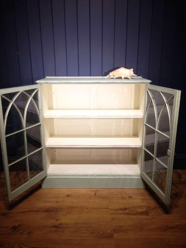 Victorian Painted Mahogany Glazed Bookcase3