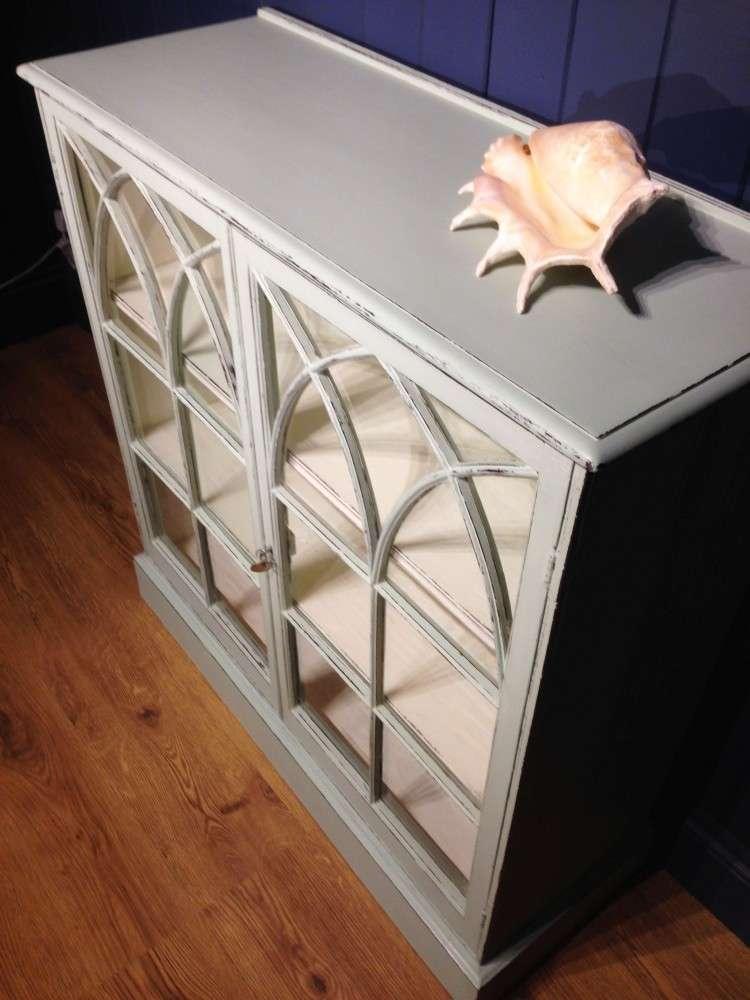 Victorian Painted Mahogany Glazed Bookcase4