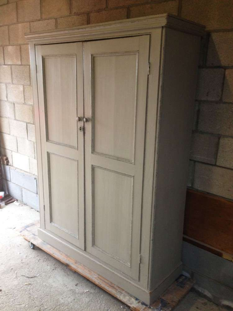 Early Victorian Painted Pine Housekeepers Cupboard1