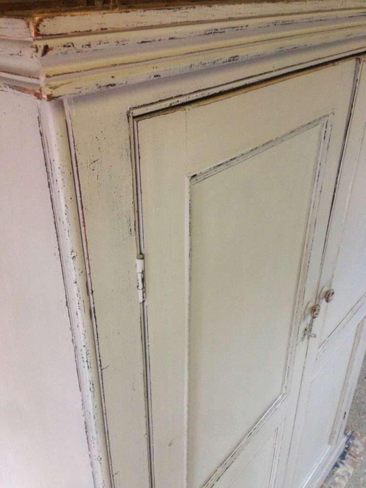Early Victorian Painted Pine Housekeepers Cupboard2