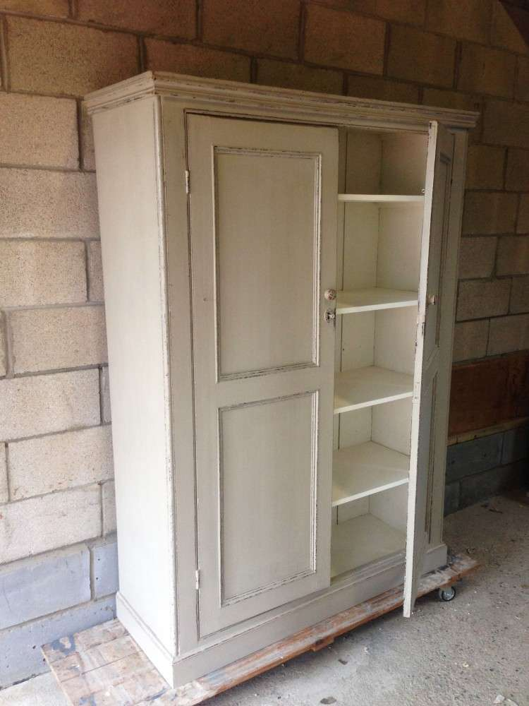 Early Victorian Painted Pine Housekeepers Cupboard SOLD- Ref:1090
