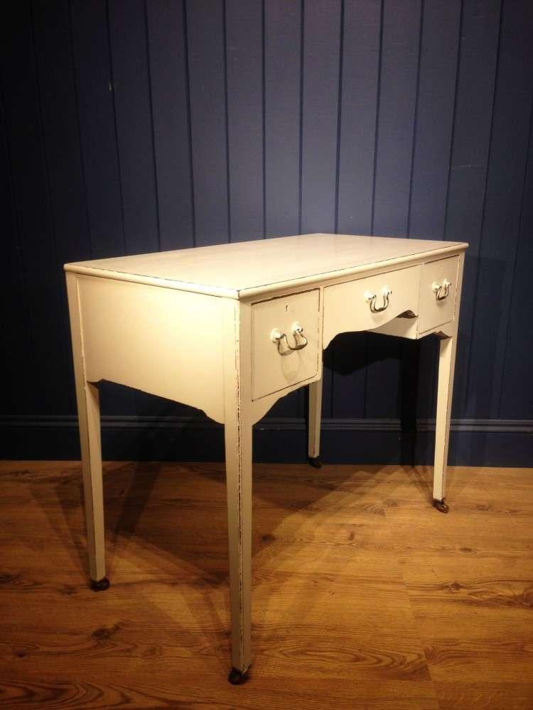 Edwardian Painted Mahogany Dressing Writing Desk 1