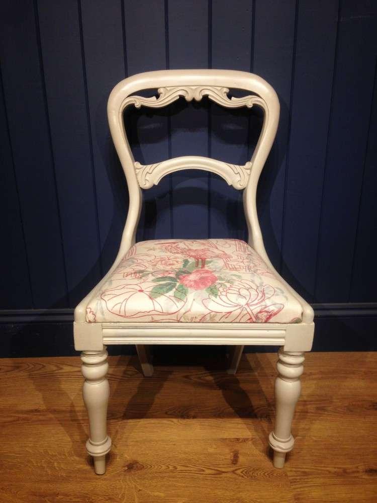Mid Victorian Painted Mahogany Balloon Back Chair