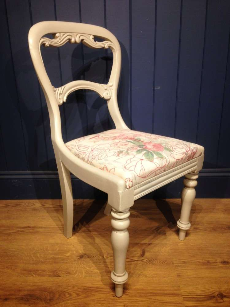 Mid Victorian Painted Mahogany Balloon Back Chair SOLD- Ref:1096