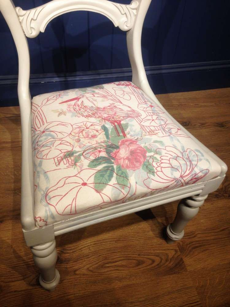 Mid Victorian Painted Mahogany Balloon Back Chair3