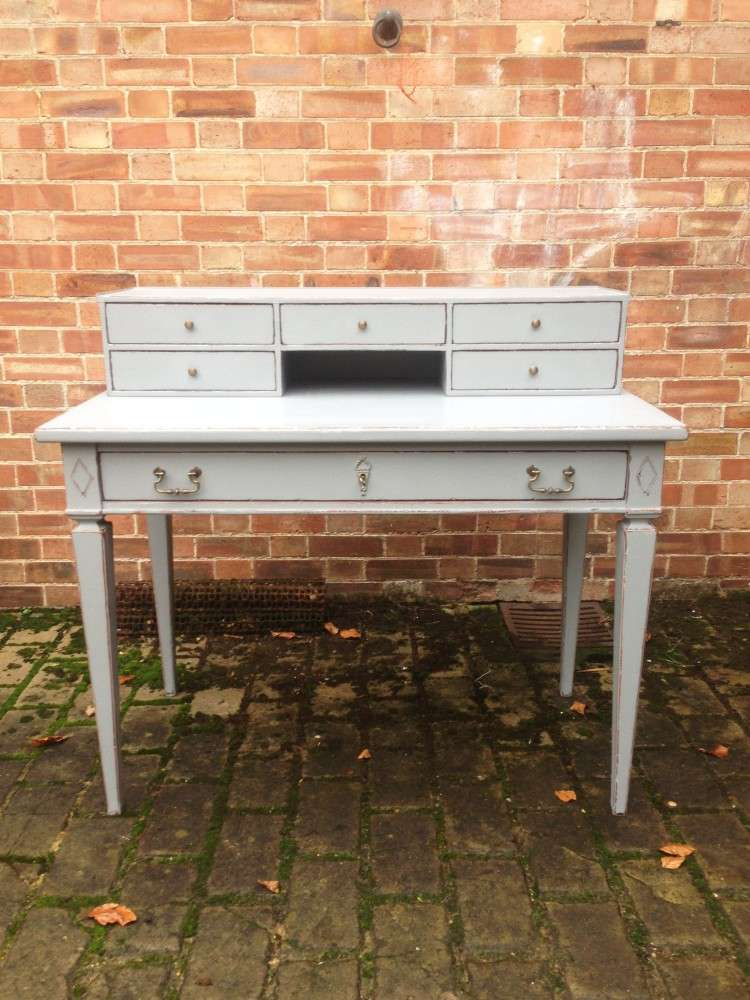 1960's French Provincial Painted Cherry Desk SOLD- Ref:1102