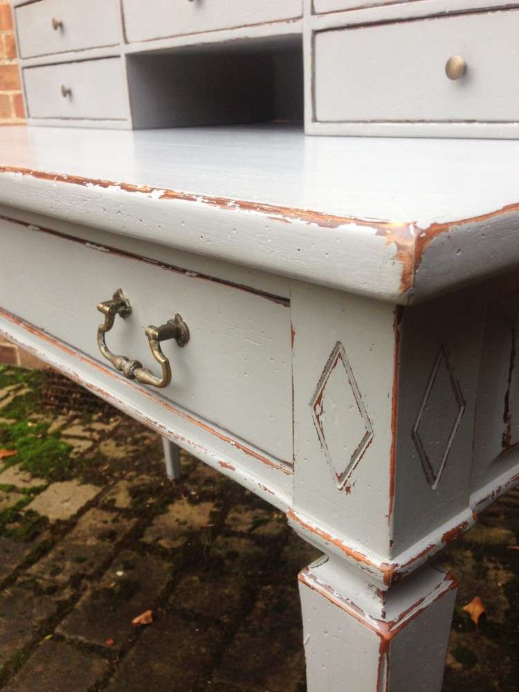 1960's French Provincial Painted Cherry Desk3