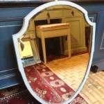 Edwardian Painted Mahogany Shield Mirror SOLD- Ref:1099
