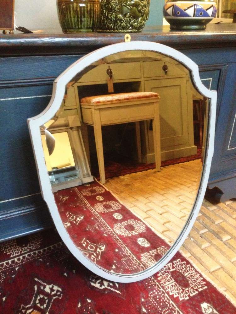 Edwardian Painted Mahogany Shield Mirror SOLD- Ref:1099