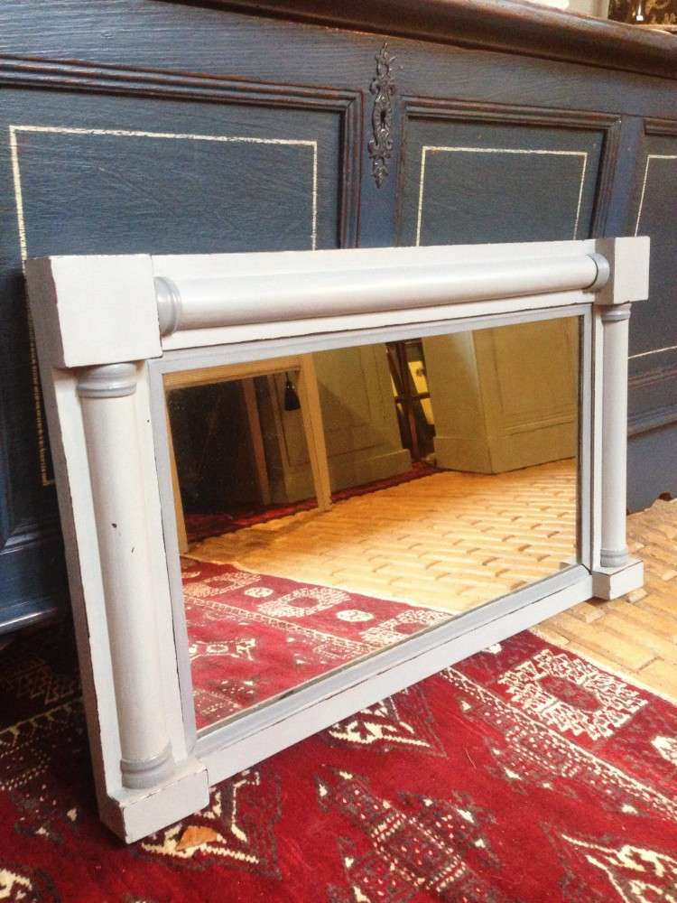 William IV Painted Rosewood Over Mantle Mirror