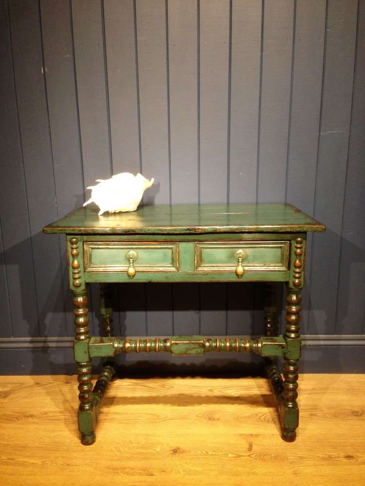 Late Victorian Painted Oak Side Table Ref 1110 Old