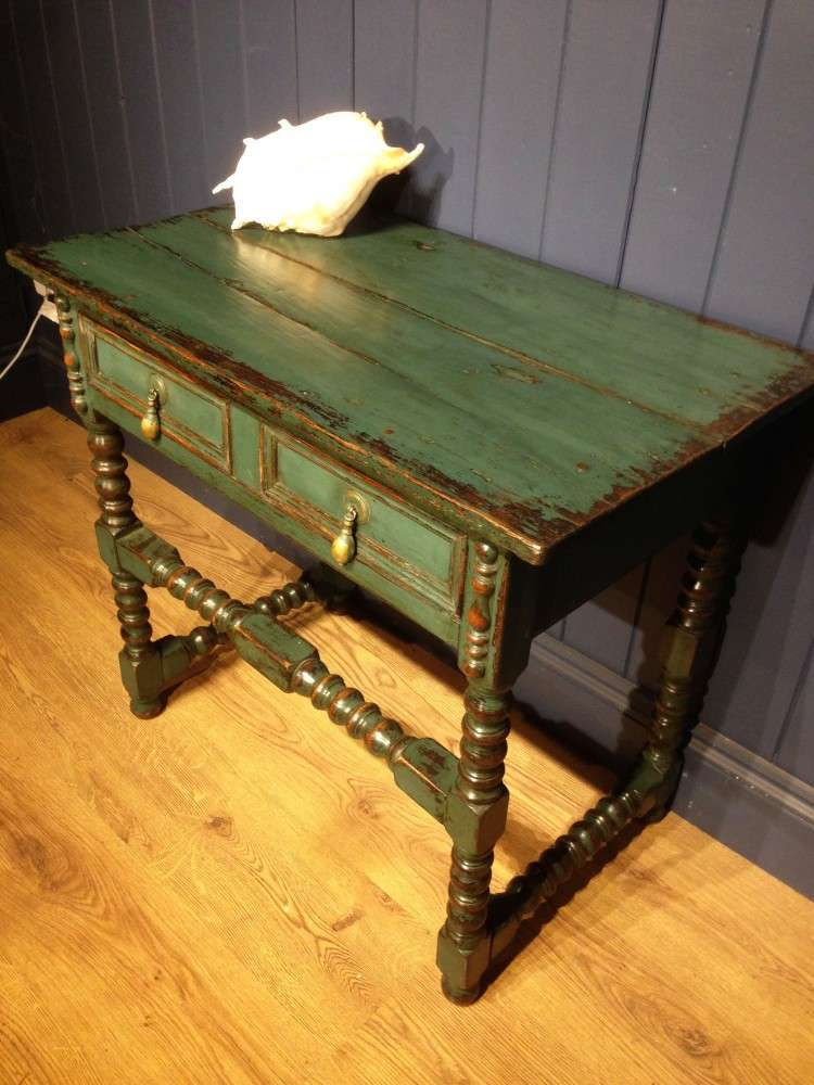 Late Victorian Painted Oak Side Table SOLD- Ref:1110
