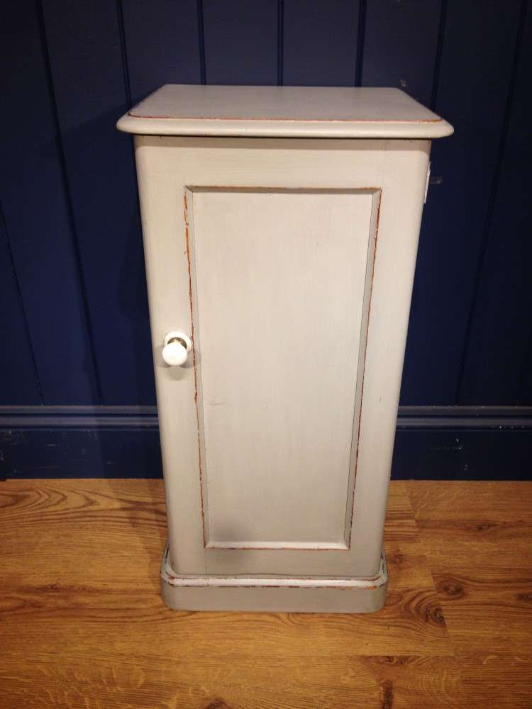 Victorian Painted Pine Bedside Cupboard SOLD- Ref:1108