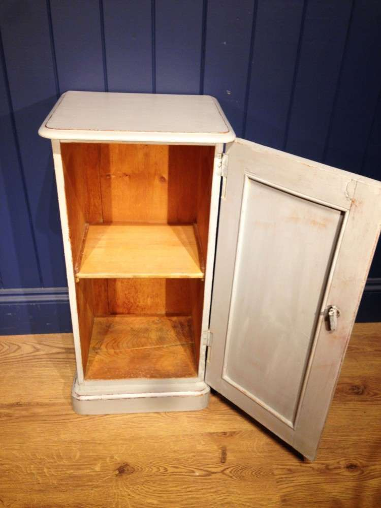 Victorian Painted Pine Bedside Cupboard3