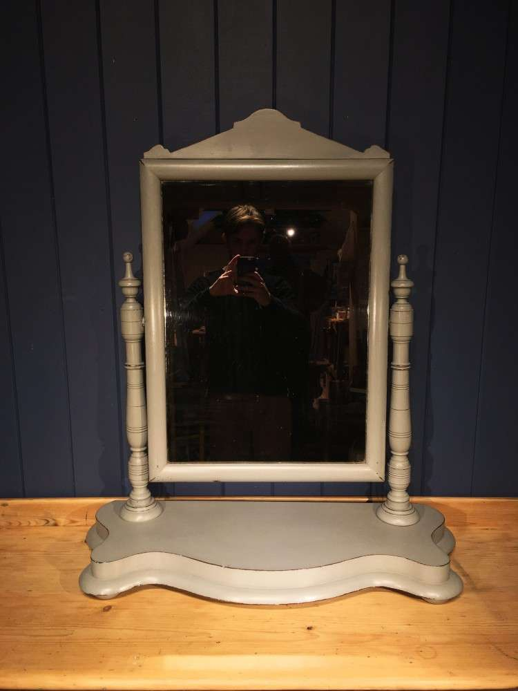 Victorian Painted Mahogany Dressing Mirror