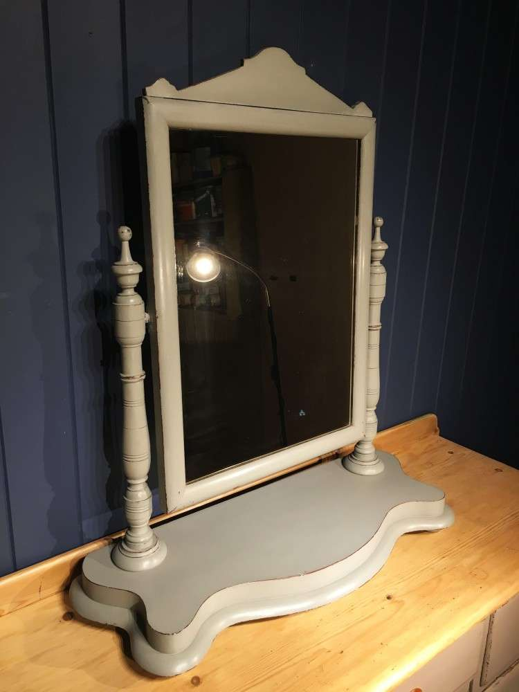 Victorian Painted Mahogany Dressing Mirror1