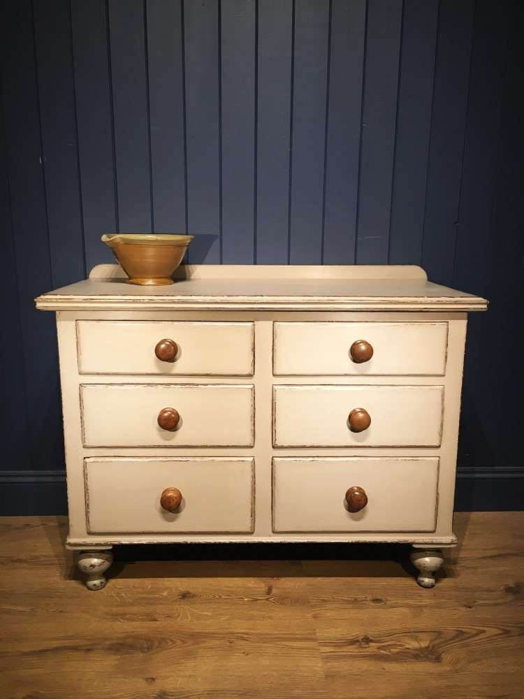 Mid Victorian Painted Pine Dresser Base SOLD- Ref:1120