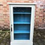Late Victorian Painted Walnut Glazed Cupboard SOLD- Ref:1124