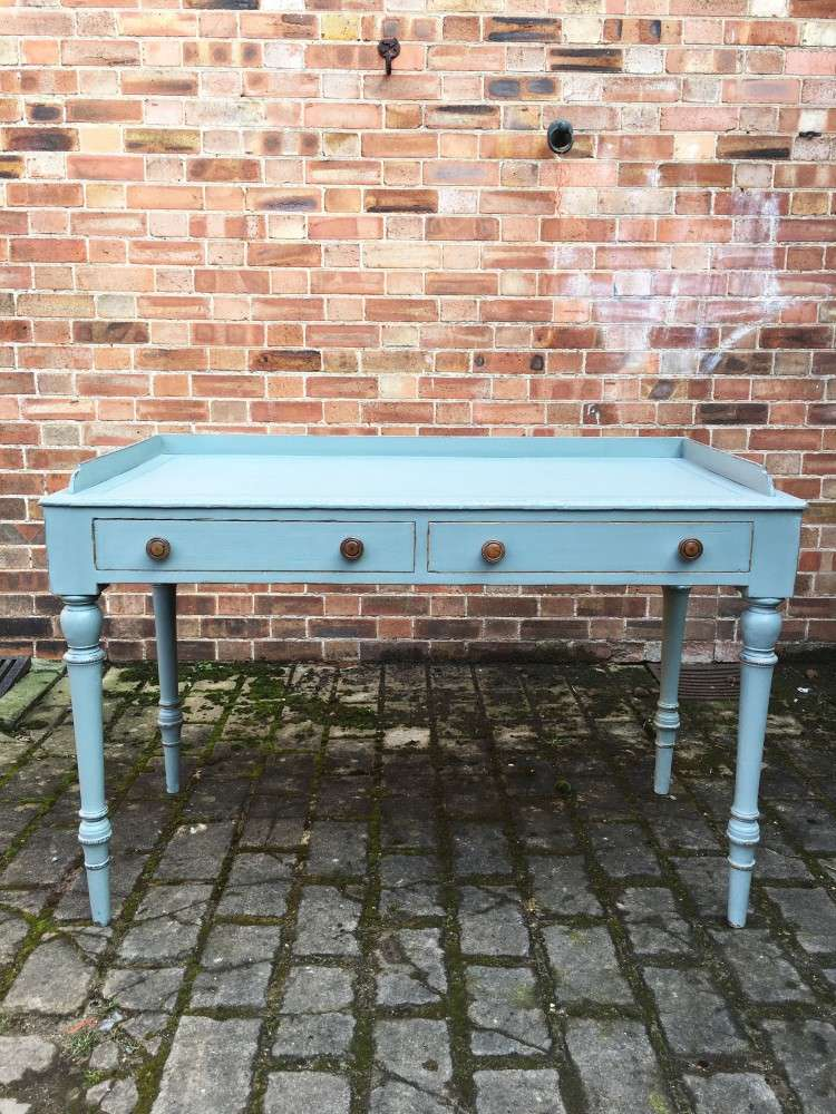 Late Victorian Painted Ash Writing Table SOLD- Ref:1126