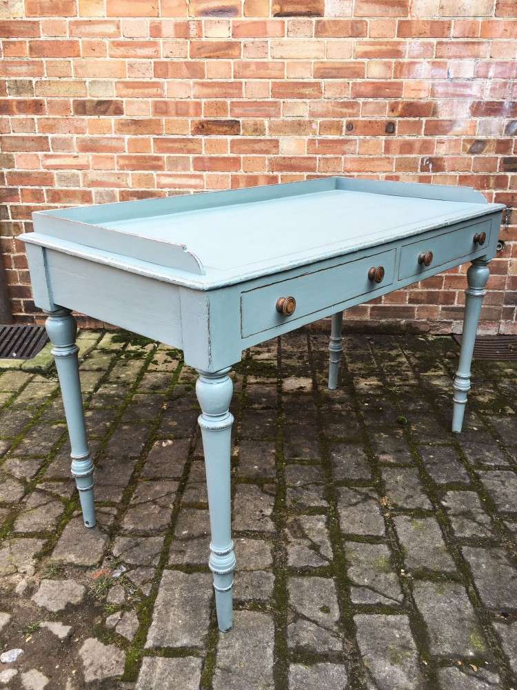 Late Victorian Painted Ash Writing Table1