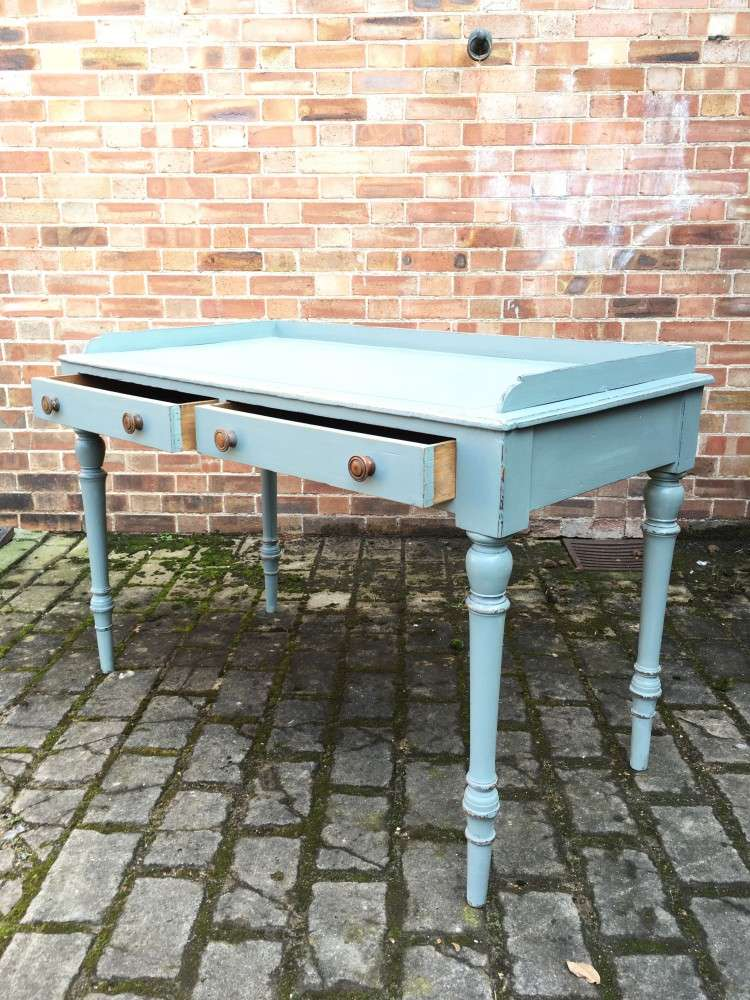 Late Victorian Painted Ash Writing Table2
