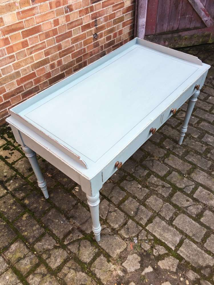 Late Victorian Painted Ash Writing Table3