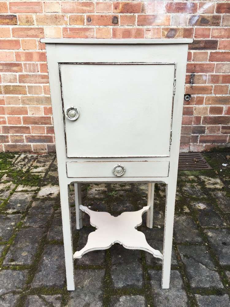 Regency Painted Mahogany Bedside Cabinet SOLD- Ref:1127