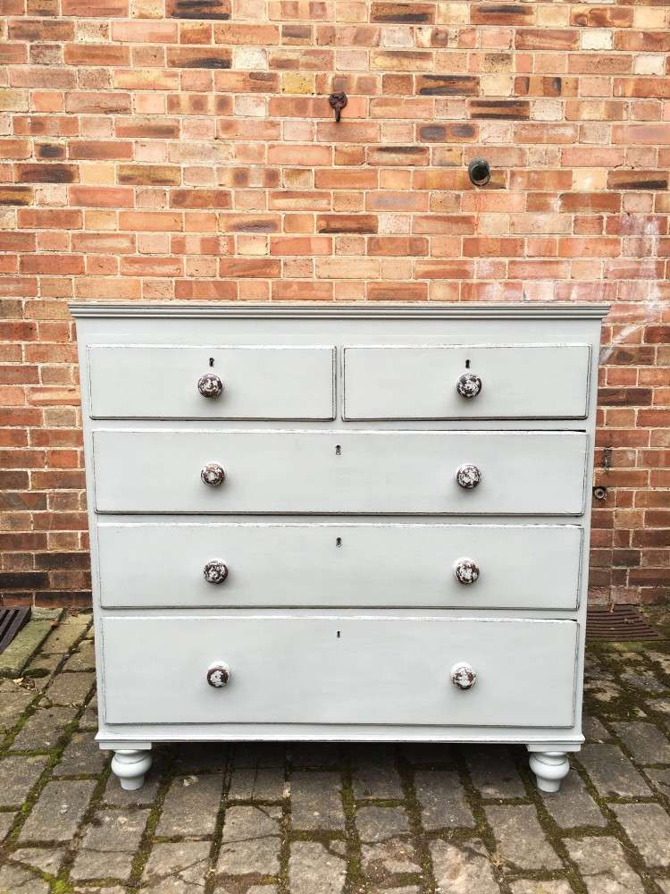 Victorian Painted Oak & Pine Chest SOLD- Ref:1128