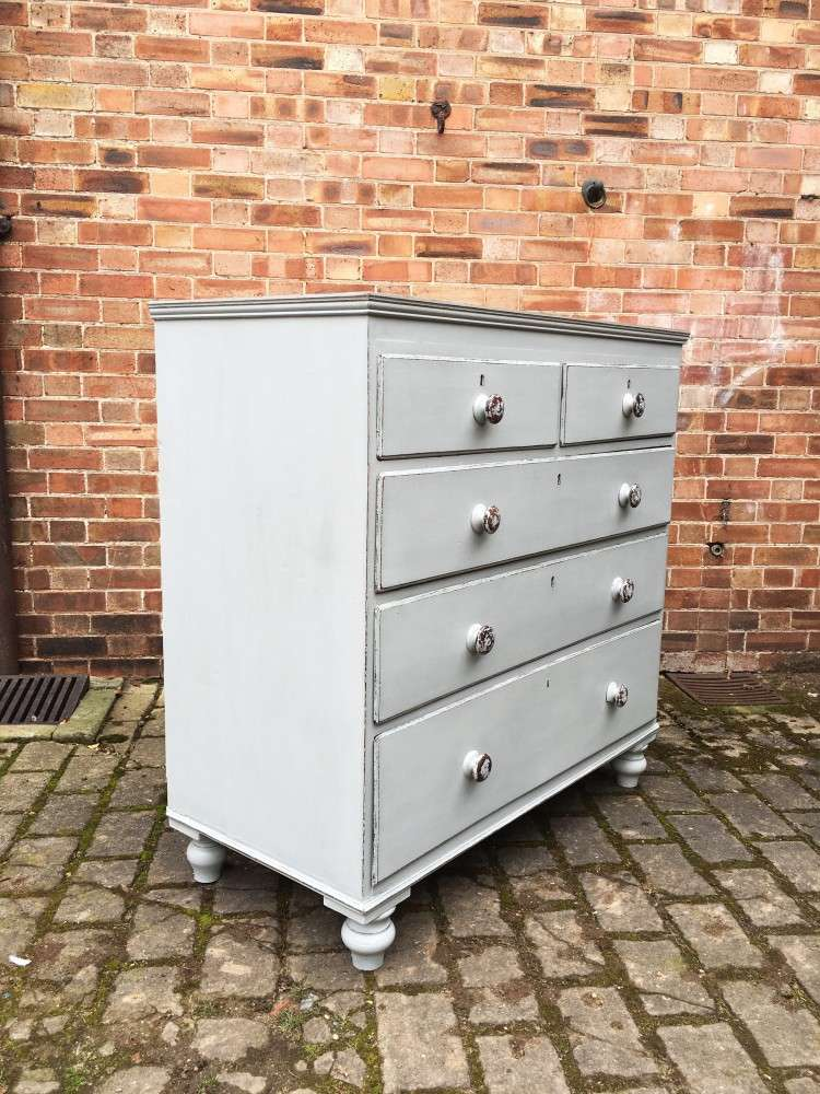 Victorian Painted Oak & Pine Chest1