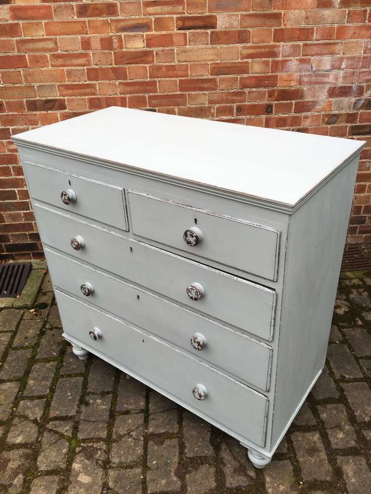 Victorian Painted Oak & Pine Chest3
